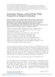 groupe accor si e social archaeology heritage and social value pdf available