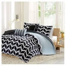 Black And White Chevron Bedding Chevron Darcy Multiple Piece Comforter Set Target