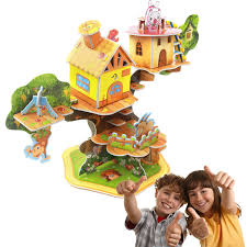 newest model aliexpress com buy newest diy 3d tree house puzzle model