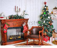 beautiful christmas new year living room stock photo 523249384