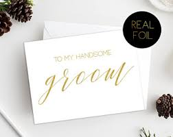 groom to card and groom card etsy