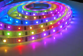 self adhesive strip lights 5050 5v 48w 150 diodes ws2801 addressable led strip light derun led