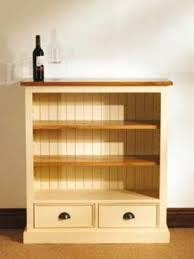 bookcase waxed solid pine small fixed shelf pine bookcase small