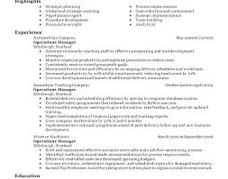 operations manager resume operations director resume manager resume exle resume