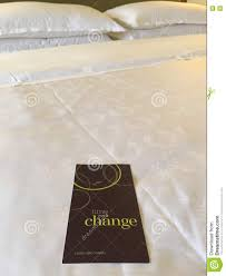 request for linen and towel change stock photo image 76363163
