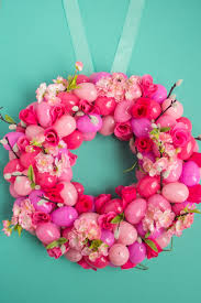 how to make an easter egg wreath simple floral ombre easter egg wreath wreaths easter and decorating