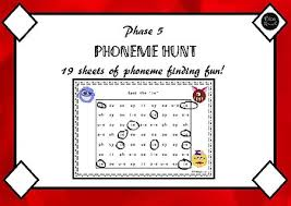 phase 5 phonics visual discrimination worksheets by eliza