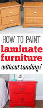 Laminate Kitchen Cabinet Makeover by Best 25 How To Paint Laminate Ideas On Pinterest Paint Laminate