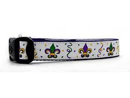 mardi gras dog collars from mardi gras nola dog collar dog collar with fleur print bourbon