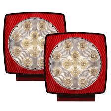 led trailer tail lights 12v led square trailer tail lights truck brake stop l stud mount