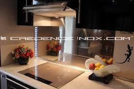 cr ence en miroir pour cuisine crédence inox miroir le décoration de crédence inox