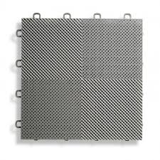 deck and patio flooring interlocking tiles perforated gray