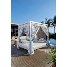 Design Strips Four Poster Outdoor Daybed - Skyline outdoor furniture