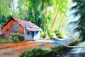watercolor painting by vilas kulkarni 2 full image