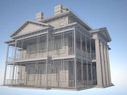Architectural Pediment Design Haunted Mansion Highball Sim The Tapered Columns Capitals