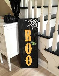 boo halloween decor sign by rosalynsanterre10 on etsy 15 00