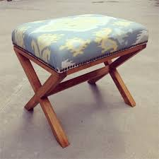 diy upholstered x bench free plans rogue engineer