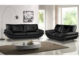 canapes et fauteuils canapé et fauteuil en simili noir ou blanc forrest