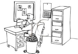 bureau clipart office clipart black and white pencil and in color office