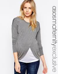 maternity nursing image 1 of asos maternity nursing top with wrap overlay and