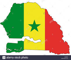 Multicoloured Flag Senegal Flag Outline Stock Photo Royalty Free Image 28729905