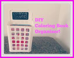 diy coloring book organizer youtube