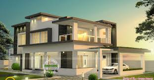 modern flat roof two storey home design architecture and art