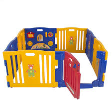 amazon com baby playpen kids 8 panel safety play center yard