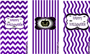 mini candy bar wrappers purple halloween