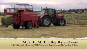 mf 7618 mf 185 big baler dji p3a lost u0026found gtritchie5 youtube