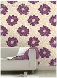 Homebase Decorating Wallpaper Pulm And Almond Modern Homebase U0027trippy U0027 Wallpaper