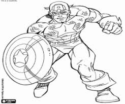 captain america shield avengers coloring printable