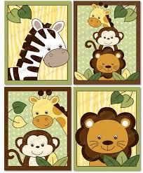 Jungle Nursery Wall Decor Safari Jungle Animal Nursery Wall By Littleprintsparties