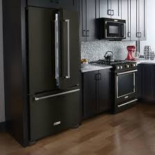 black cabinets with black appliances kitchen trend colors showroom park upscale color undermount photos
