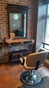 hair and makeup station pallet furniture ideas for a hair salon salon stations and