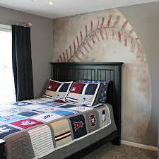 Baseball Bed Frame Noah S Baseball Mural Room The Magic Brush Inc