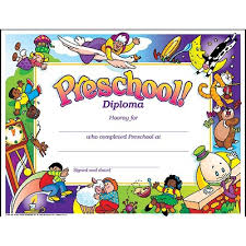 preschool graduation certificate preschool diploma certificate