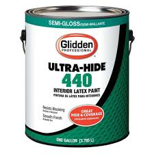 glidden professional 1 gal ultra hide 440 semi gloss white tint