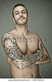 tattoo man stock images royalty free images u0026 vectors shutterstock