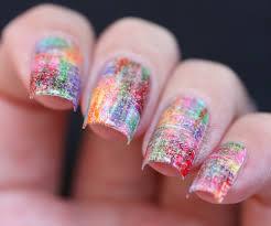 rainbow nail art polish alcoholic