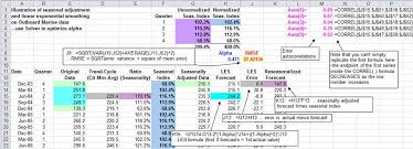 Demand Forecasting Excel Template by Forecasting With Seasonal Adjustment And Linear Exponential Smoothing