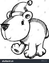 doodle sketch christmas holiday polar bear stock vector 41015188