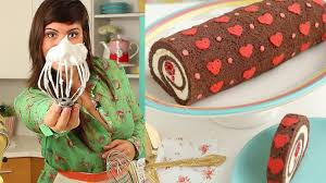 how to make heart cake roll chocolate cake roll filled with