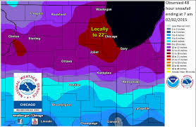 Map Chicago Metro by Historic Winter Storm Of January 31 February 2 2015