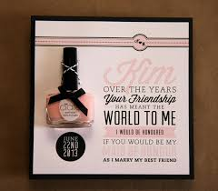 bridesmaid invite our favorite things will you be my bridesmaid invite diy