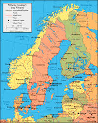 map of countries surrounding germany sweden map and satellite image