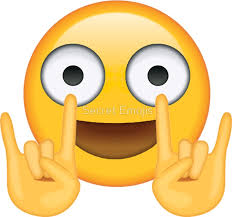Smiley Meme - funny emoji rocking out secret emoji funny internet meme stickers