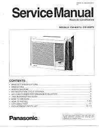 panasonic panasonic room air conditioner parts model cw806tu