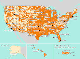 map usa la usa gsm network coverage maps for at t and t mobile