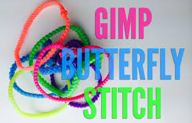 how to a butterfly gimp bracelet by boondoggle